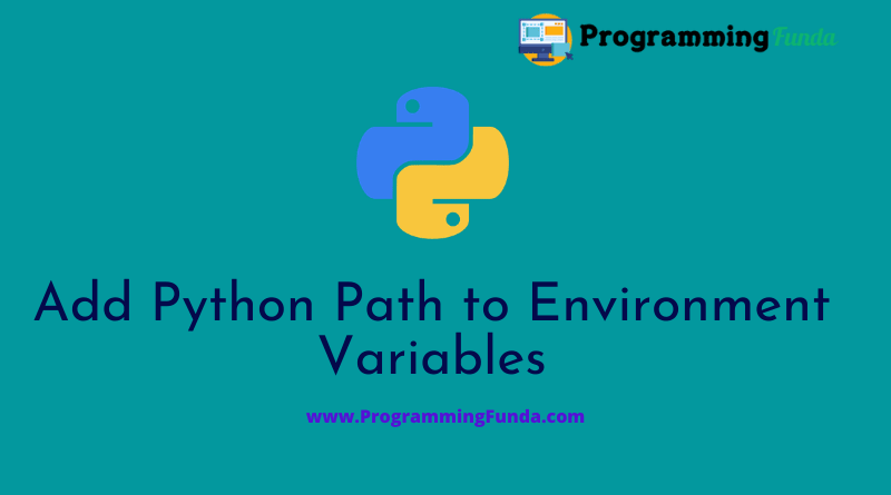 How to add Python to Windows Path