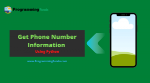 Get Phone Number Info Using Python