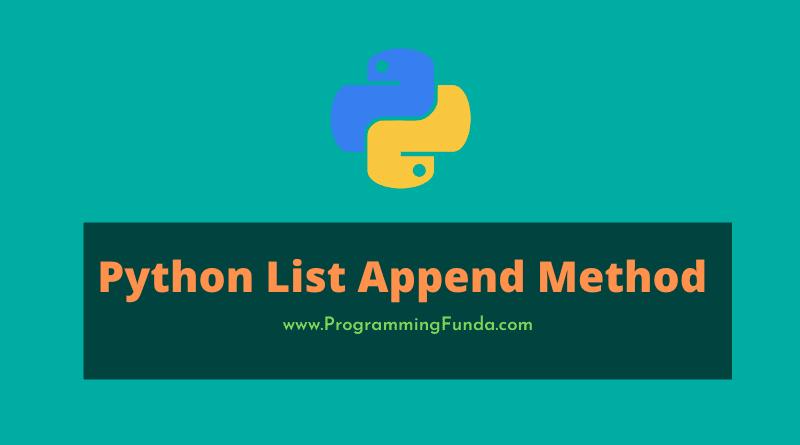 python list append() method