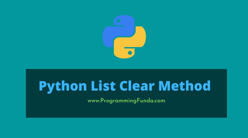 Python list clear method