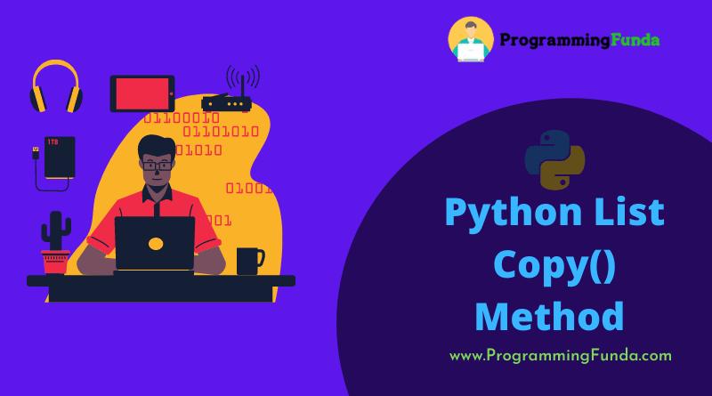 python list copy() method