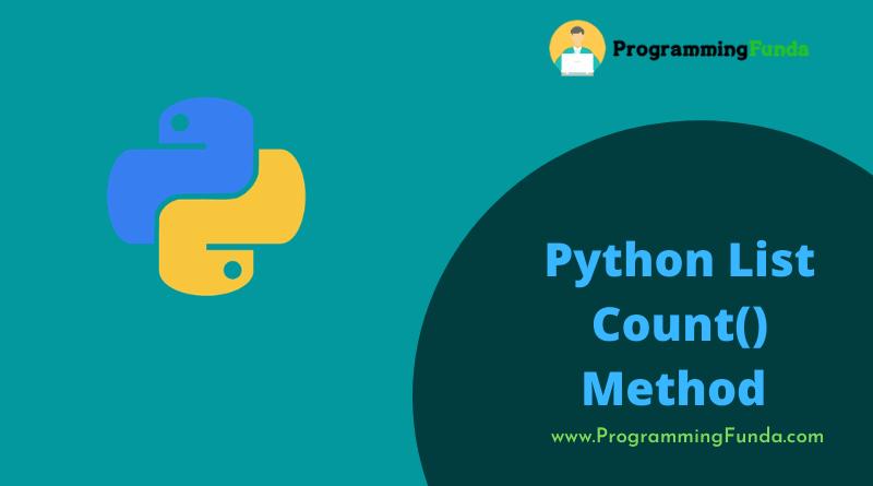 python list count() method