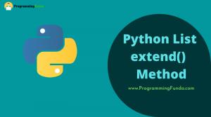 Python list extend() method