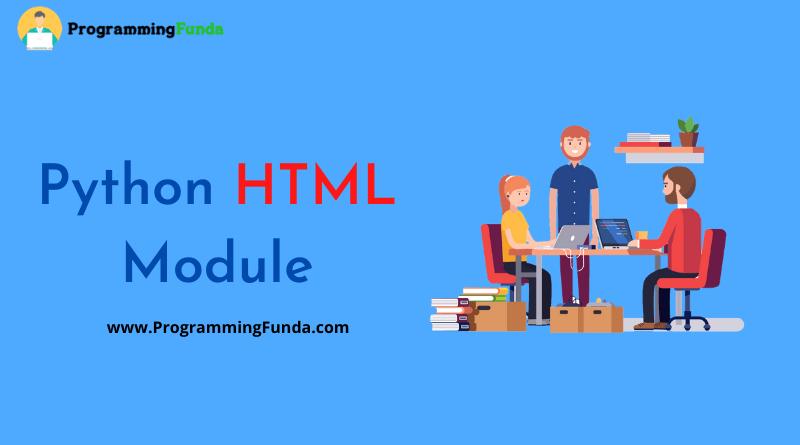 Python HTML Module