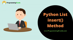 Python list insert() method