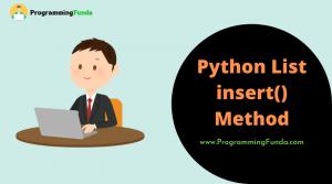 Python list insert() method