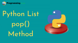 python list pop() method