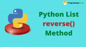 list reverse() method