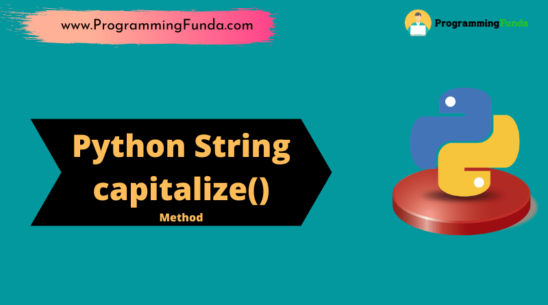 String capitalize() Method