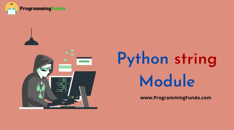 python string module