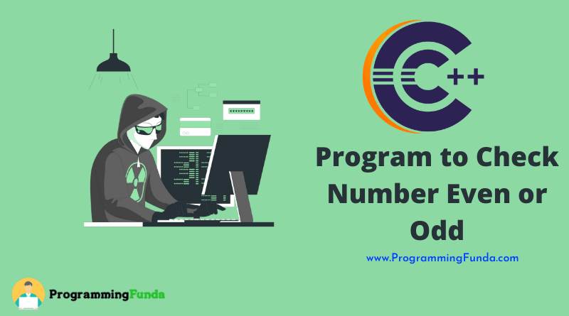 C++ Program to Check Number Even or Odd