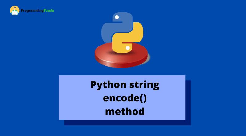 python string encode