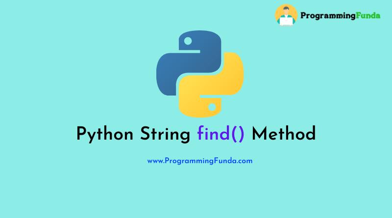 python string find() method