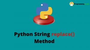 Python String replace