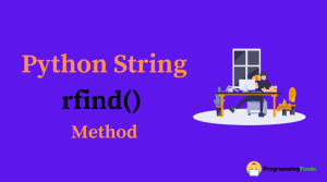 Python string rfind