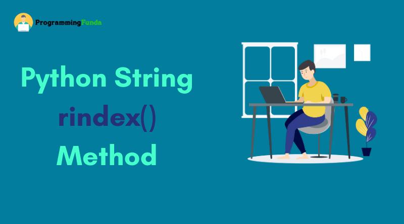 Python String rindex