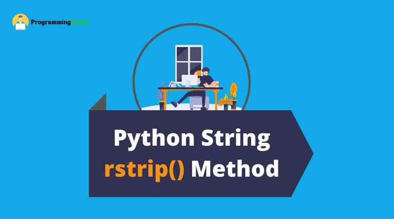 Python string rstrip