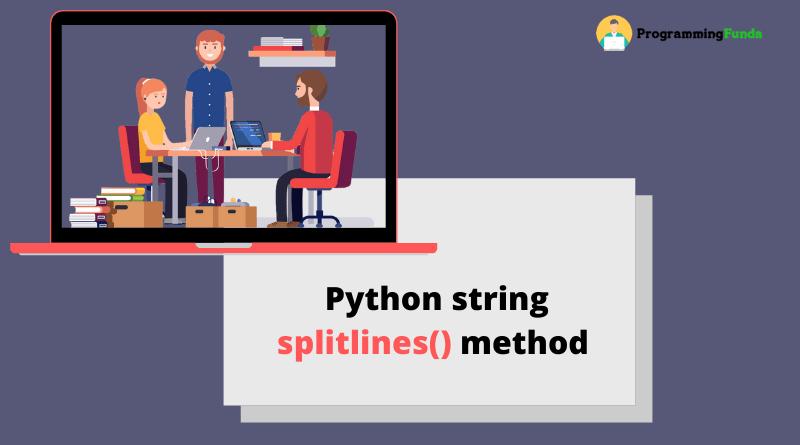 python string splitlines