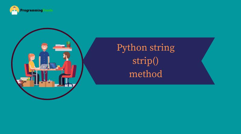 Python String strip