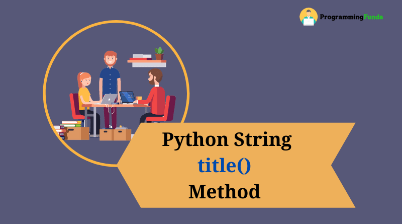 Python string title