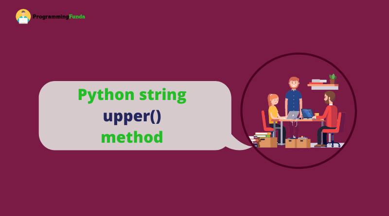 python string upper