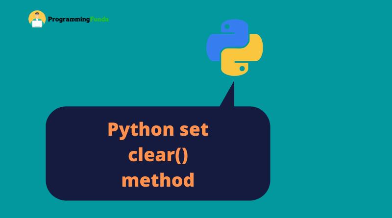 Python set clear method