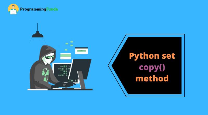 Python set copy