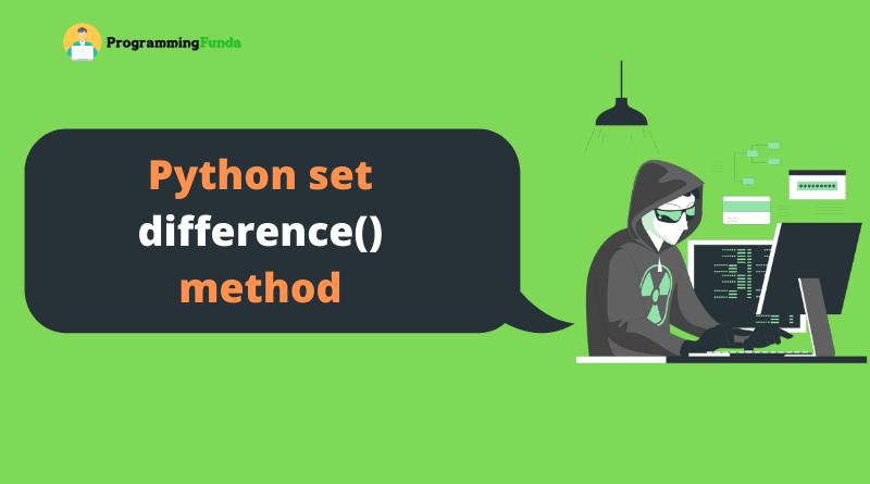 Python set difference