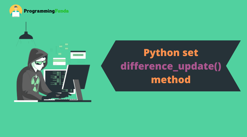 python set difference_update