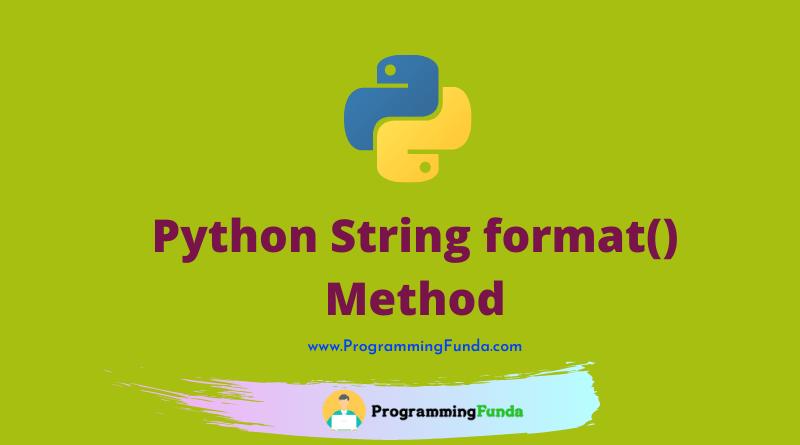 Python string format() method