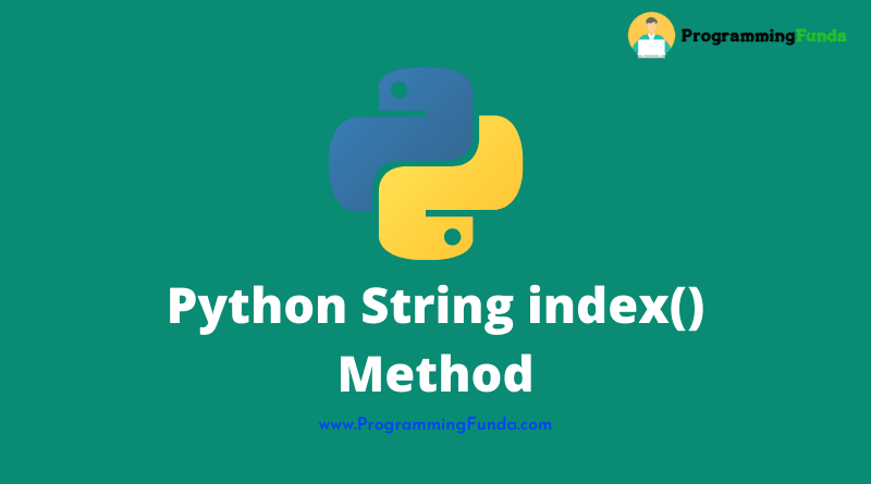 Python string index() method