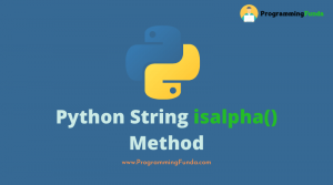 Python string isalpha() method