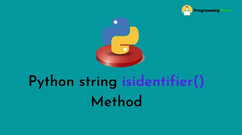 python string isidentifier