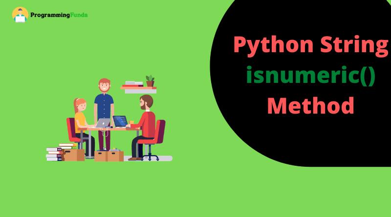 python string isnumeric