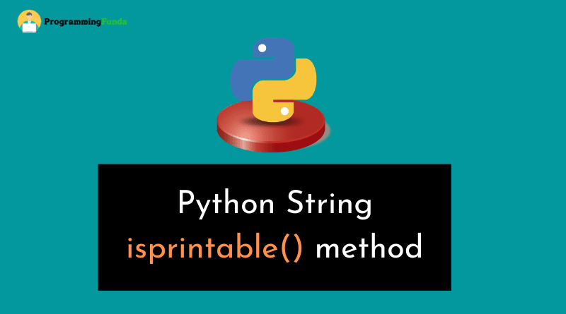 python string isprintable