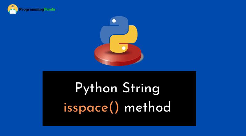 python string isspace