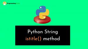 python string istitle