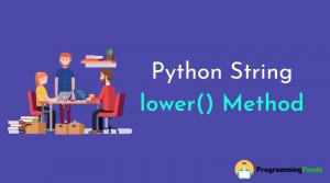 python string lower