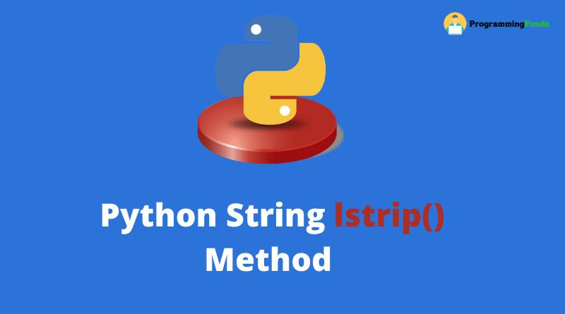 Python string lstrip