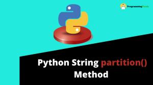 python string partition