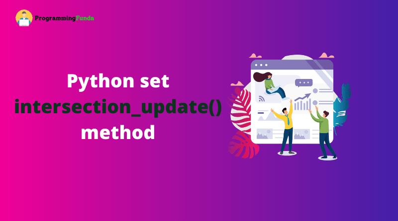 python set intersection_update