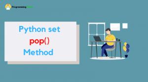 Python set pop