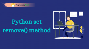 Python set remove