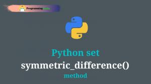 python set symmetric_difference