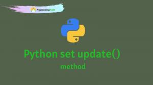 Python set update