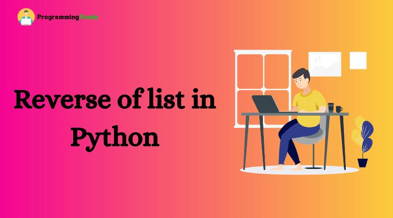 Reverse a list in Python