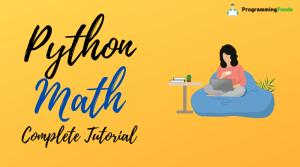 Python math Module