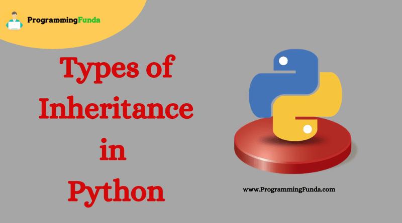 types of inheritance in python