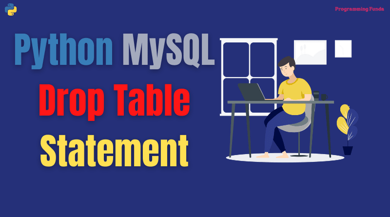 Python MySQL Drop Table