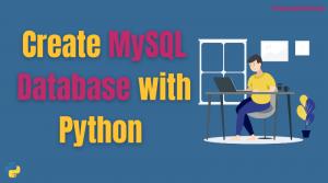 python MySQL create database